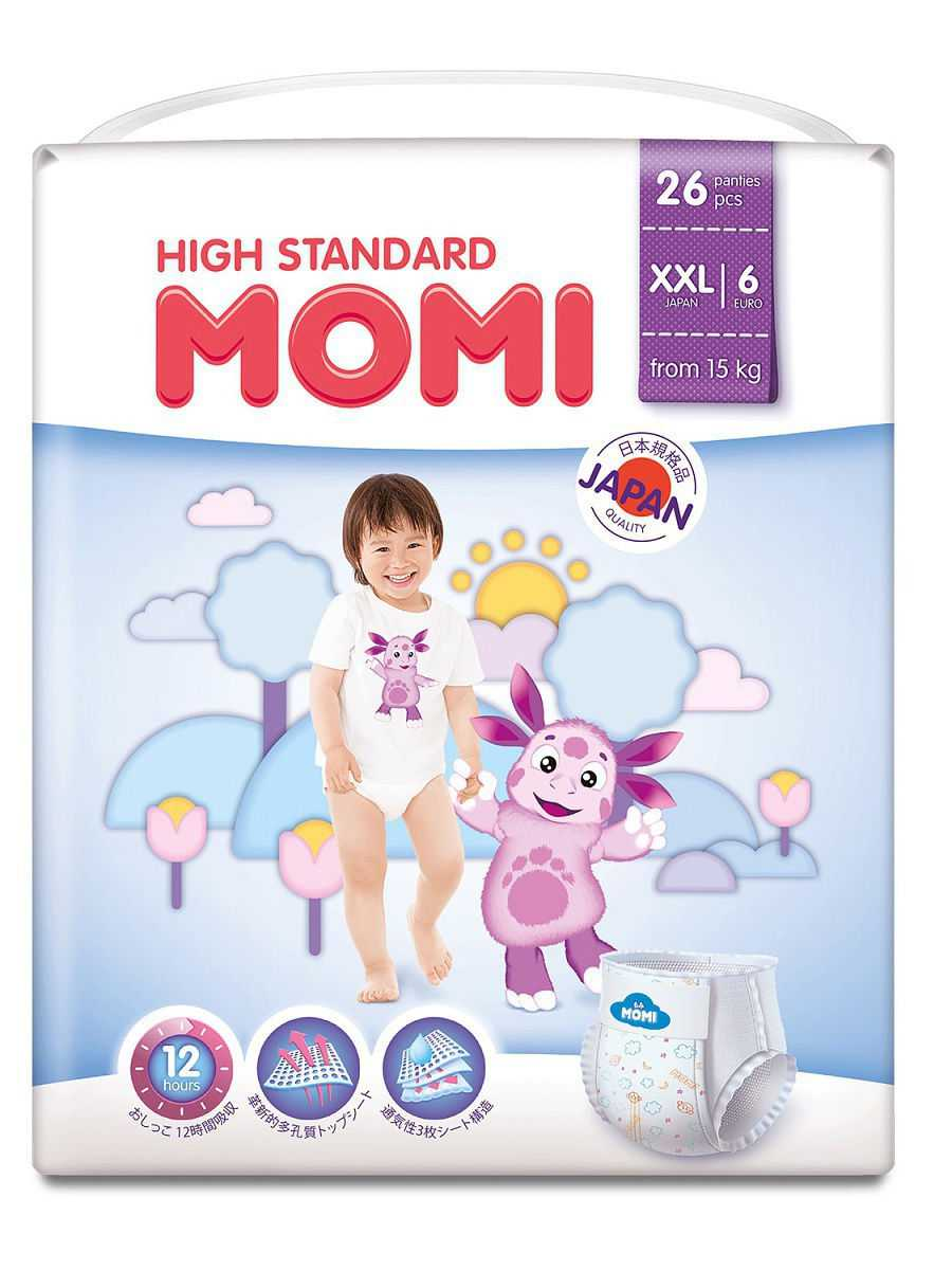 Momi _ High Standard подгузники-трусики XXL (от 15 кг)-1